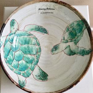 Tommy Bahama Sea Turtle Melamine Serving Bowl